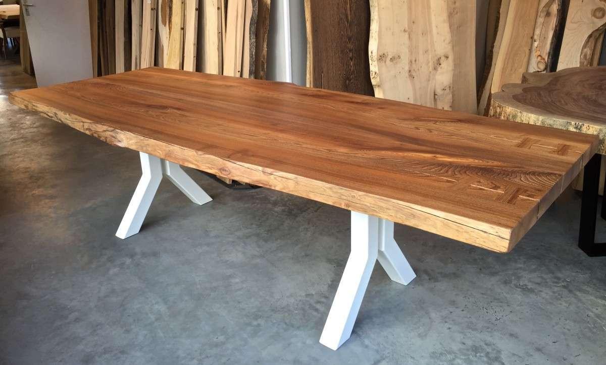 Boomstamtafel Stalen Onderstel.Stalen Onderstel Geef Uw Tafel Een Industrieel Design Woodend