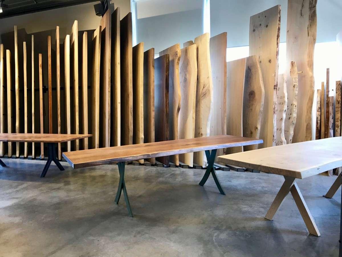 Tafels Gemaakt Van Boomstammen.Woodend Boom Stam Plank Tafel Boomstamtafels En Zwevende